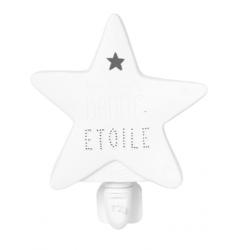 Veilleuse étoile en porcelaine